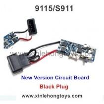 XinleHong Toys 9115 S911 Parts Receiving Plate, Circuit Board 15-DJ04 (Black Plug)