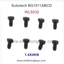Subotech BG1511A BG1511B BG1511C BG1511D Parts Countersunk Head Screws WLS032 1.4X4KN