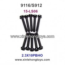 XinleHong Toys 9116 S912 Parts Round Headed Screw 15-LS06 (2.3X10PBHO)-10PCS