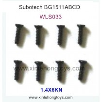 Subotech BG1511A BG1511B BG1511C BG1511D Parts Countersunk Head Screws WLS033 1.4X6KN
