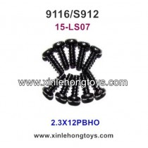XinleHong Toys 9116 S912 Parts Round Headed Screw 15-LS07 (2.3X12PBHO)-10PCS