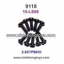 XinleHong Toys 9118 Parts Round Headed Screw 15-LS09 (2.6X7PBHO)