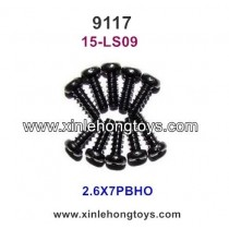 XinleHong Toys 9117 Parts Round Headed Screw 15-LS09 (2.6X7PBHO)