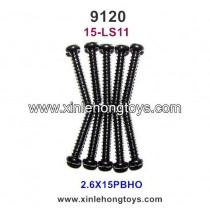 XinleHong Toys 9120 Parts Round Headed Screw 15-LS11 (2.6X15PBHO)