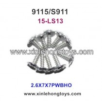 XinleHong Toys 9115 S911 Round Headed Screw 15-LS13 (2.6X7X7PWBHO) -10PCS