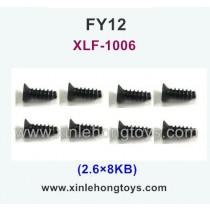 FeiYue FY12 Parts Screw 2.6×8KB XLF-1006