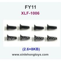 FeiYue FY11 Parts Screw 2.6×8KB XLF-1006