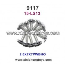 XinleHong Toys 9117 Parts Round Headed Screw 15-LS13 (2.6X7X7PWBHO)