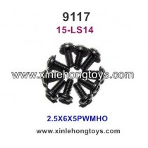 XinleHong Toys 9117 Parts Round Headed Screw 15-LS14 (2.5X6X5PWMHO)