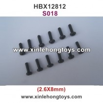 HBX 12812 Parts Screw S018