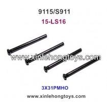 XinleHong Toys 9115 S911 Parts Round Headed Screw 15-LS16 (3X31PMHO) -4PCS