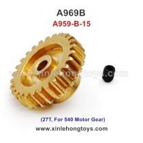 WLtoys A969b Parts Motor Gear A959-B-15