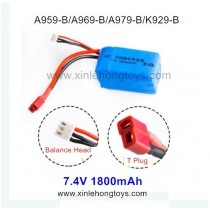 WLtoys K929-B Upgrade Battery 7.4V 1800mAh (T Plug)