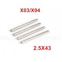 XLF X03 X04 Parts Optical Shaft 2.5X43 XLF-1014