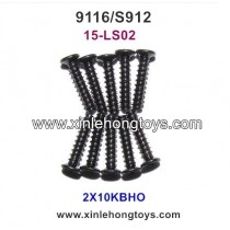 XinleHong Toys 9116 S912 RC Truck Parts Countersunk Head Screws 15-LS02 (2X10KBHO) -10PCS