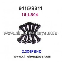 XinleHong Toys 9115 S911 Truck Parts Round Headed Screw 15-LS04 (2.3X6PBHO)-10PCS