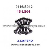 XinleHong Toys 9116 S912 Parts Round Headed Screw 15-LS04 (2.3X6PBHO)-10PCS