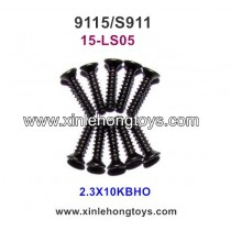 XinleHong Toys 9115 S911 Parts Countersunk Head Screw 15-LS05 (2.3X10KBHO) -10PCS