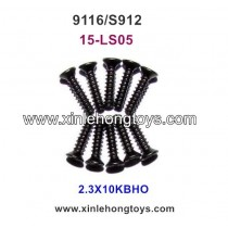 XinleHong Toys 9116 S912 rc truck Parts Countersunk Head Screw 15-LS05 (2.3X10KBHO) -10PCS