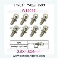 Feiyue FY02 Parts Hexagon Socket Screws W12057 (2.5X4.8X6mm)-8pcs