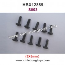 HBX 12889 Thruster Parts Round Head Self Tapping Screw S003 3X8