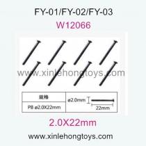 Feiyue FY01 Parts Self-Attack Screws W12066-8pcs