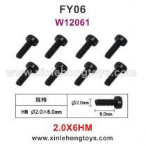 Feiyue FY06 Parts 2.0X6HM Hexagonal Cup Head Screws W12061