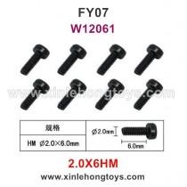 Feiyue FY07 Parts 2.0X6HM Hexagonal Cup Head Screws W12061