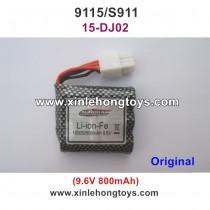 XinleHong Toys 9115 S911 Parts Battery 9.6V 800mAh 15-DJ02  New Version (Six Hole White Plug)