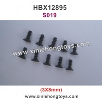 HBX 12895 Transit Parts Countersunk Self Tapping Screw 3X8 S019