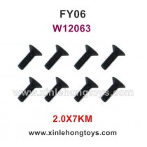 Feiyue FY06 Desert-6 Parts 2.0X7KM Hexagonal Flat Head Screws W12063