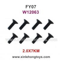 Feiyue FY07 Desert-7 Parts 2.0X7KM Hexagonal Flat Head Screws W12063