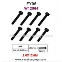 Feiyue FY06 Parts 2.0X12HM Hexagonal Cup Head Screws W12064