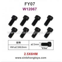 Feiyue FY07 Desert-7 Parts 2.5X6HM Hexagonal Cup Head Screws W12067