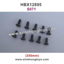 HBX 12895 Transit Parts Round Head Self  Tapping Screw 3X6mm S071