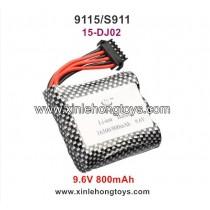 XinleHong Toys 9115 S911 Parts Battery 9.6V 800mAh