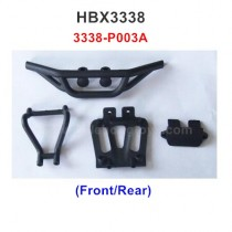 HBX 3338 Parts Front/Rear Bumper Assembly 3338-P003A