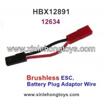 HaiBoXing HBX 12891 Dune Thunder Parts Brushless ESC, Battery Plug Adaptor Wire 12634