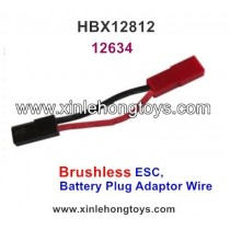 HBX 12812 Parts Brushless ESC, Battery Plug Adaptor Wire 12634