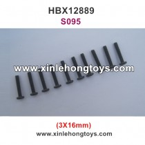 HBX 12889 Thruster Parts Round Head Screw 3X16mm S095