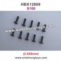 HBX 12889 Thruster Parts Round Head Screw 2.5X8mm S100