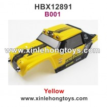 HaiBoXing HBX 12891 Car Shell, Body Shell Yellow 891-B001