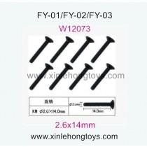 Feiyue FY01 Fighter-1 Parts Hexagon head self-attack Screws W12073 (2.6x14mm)-8pcs