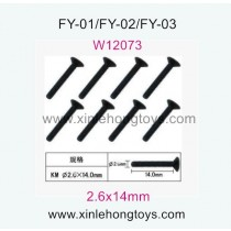 Feiyue FY03 eagle-3 Parts Hexagon head self-attack Screws W12073 (2.6x14mm)-8pcs