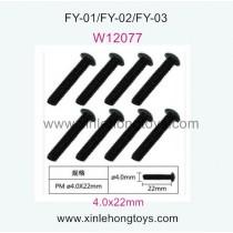 Feiyue FY03 Eagle-3 Parts Cross machine screws W12077 (4.0x22mm)-8pcs