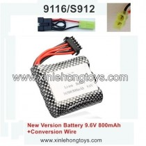 New Version Battery 9.6V 800MAH & Conversion Wire