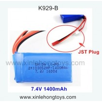 WLtoys K929-B parts Battery 7.4V 1400mAh (JST Plug)