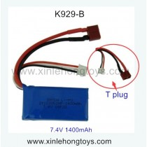 WLtoys K929-B parts Battery 7.4V 1400mAh (T Plug)