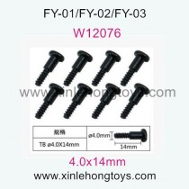 Feiyue FY03 Eagle-3 Parts Hexagon Head Self-Tapping Screws T W12076 (4.0x14mm)
