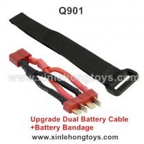 XinleHong Q901 Upgrade Dual Battery Cable+Battery Bandage